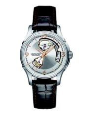Hamilton Jazzmaster Open Heart Auto Stainless Steel And Embossed Leather Strap Watch Brown Silver