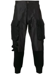 Unravel Project Tapered Cargo Trousers Black