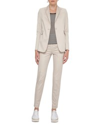 Akris Punto Stretch Cotton One Button Blazer White