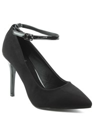 Daniel Meadowbeck Pointy Contrast Court Shoes Black