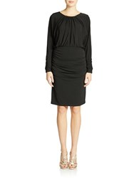 Muse Ruched Blouson Dress Black