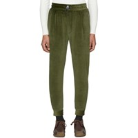 Sunnei Green Velour Jogging Pants