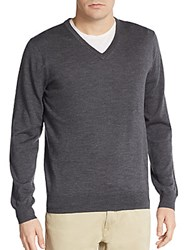 Ben Sherman Merino Wool V Neck Sweater Chimney
