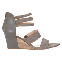 Mint Velvet Aliya Wedge Heeled Sandals Taupe Leather