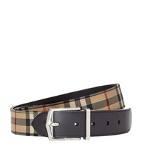 Burberry Shoes And Accessories Classic House Check Belt Unisex Black