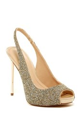 Imagine Vince Camuto Pavi Slingback Peep Toe Pump Metallic
