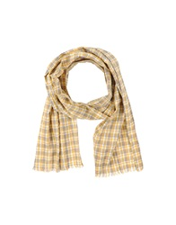 Closed Oblong Scarves Yellow