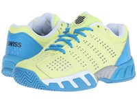 K Swiss Bigshot Light 2.5 Sunny Lime Vivid Blue Synthetic Leather Women's Tennis Shoes Yellow
