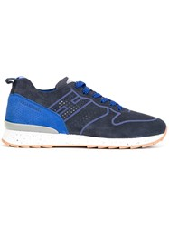Hogan Rebel Lace Up Trainers Blue