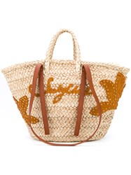 See By Chloe Holiday Tote Women Raffia Leather One Size Nude Neutrals