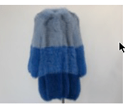 Helen Yarmak Dyed Fox Coat With Snap Closure Hy Exclusive Chiffon Lining. Fur Origin Finland Blue