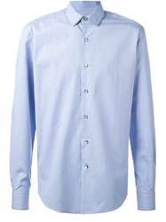 Lanvin Classic Trim Collar Shirt Blue