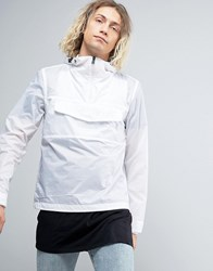 Napapijri Asheville Overhead Jacket Hooded Lightweight Ripstop In White Bright White
