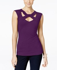 Inc International Concepts Cap Sleeve Cutout Top Only At Macy's Purple Paradise