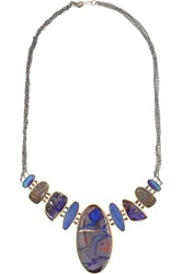 Melissa Joy Manning 14 Karat Gold Sterling Silver Opal And Bone Necklace