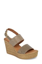 Seychelles Downtime Wedge Sandal Bronze Metallic Fabric