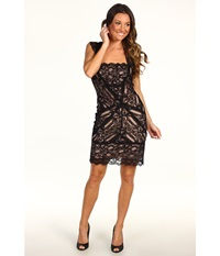Nicole Miller Stretch Lace Dress With Open Back Detail Black Women's Dress