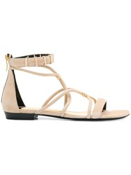 Barbara Bui Open Toe Strapped Sandals Nude And Neutrals