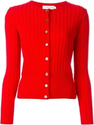 Tory Burch Round Neck Cardigan Red