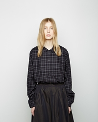 Margaret Howell Lined Yoke Shirt Black Check