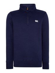 Canterbury Of New Zealand Classic Qtr Zip Fleece Deep Blue