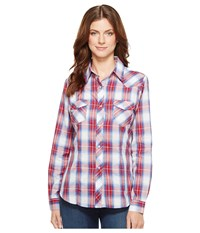 Roper 1028 Royal Red And White Plaid Red Women's Clothing