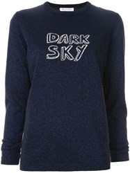 Bella Freud Dark Sky Sparkle Jumper Blue