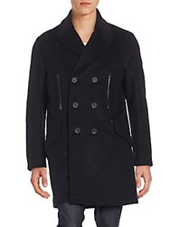 Mackage Double Breasted Wool Blend Coat Black