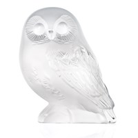 Lalique Clear Shivers Owl Figure