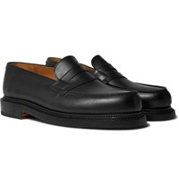 J.M. Weston 180 The Moccasin Leather Loafers Black
