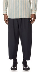3.1 Phillip Lim Relaxed Pleated Trousers With Belt Midnight