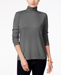 Styleandco. Style Co. Long Sleeve Mock Turtleneck Steel Grey
