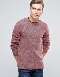 Penfield Gering Melange 2Tone Jumper Red