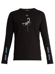 Off White Otherlos Scorpion Print Cotton T Shirt Black Multi