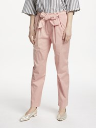 Maison Scotch Paperbag Tapered Leg Trousers Blush Pink