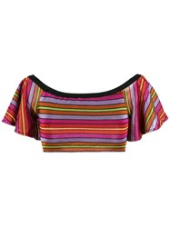 Cecilia Prado Knit Crop Top Acrylic Viscose