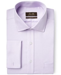 Tasso Elba Non Iron Purple Houndstooth French Cuff Dress Shirt Only At Macy's