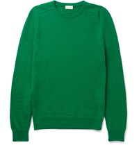 Saint Laurent Ribbed Cashmere Sweater Green