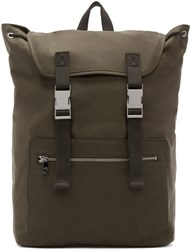 A.P.C. Green Canvas Jamie Backpack