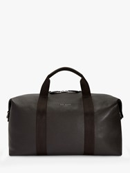 Ted Baker Holding Leather Holdall Chocolate