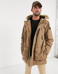 Only And Sons Parka Jacket Green