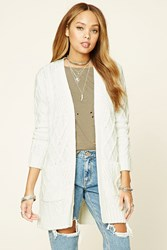 Forever 21 Cable Knit Longline Cardigan