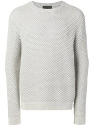 Iris Von Arnim Chunky Knit Jumper Grey