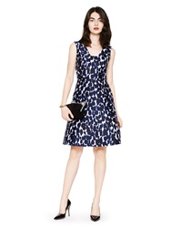 Kate Spade Leopard Print Fit And Flare Dress