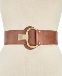 Inc International Concepts Distressed Hook Front Stretch Belt Created For Macy's Cognac