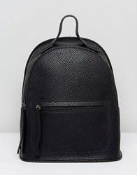 Liquorish Backpack With Front Pocket Detail Black