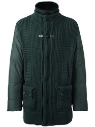 Baldinini Zip Up Padded Coat Green