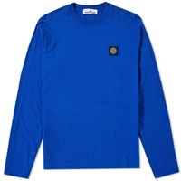 Stone Island Long Sleeve Patch Logo Tee Blue