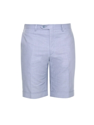 Brioni Bird's Eye Woven Cotton Shorts