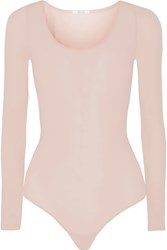 Wolford Buenos Aires Stretch Jersey Bodysuit Blush